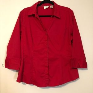 Riders by Lee 3/4 Sleeve Button Up Shirt